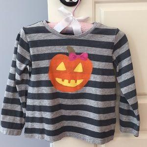 OSHKOSH ORIGINALS Striped Jack-o-lantern LS Shirt